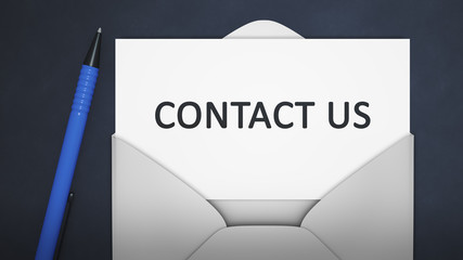 an envelope with contact us