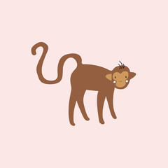 Cute illustration of a monkey