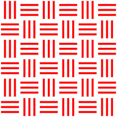 Seamless pattern, bar horizontal with red line vertical on white background, vector illustration