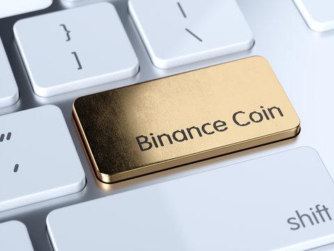 Binance Coin computer keyboard button
