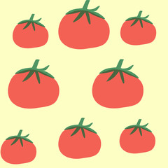 Pattern  tomato  on the  background