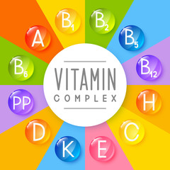 Main vitamins background for Your design