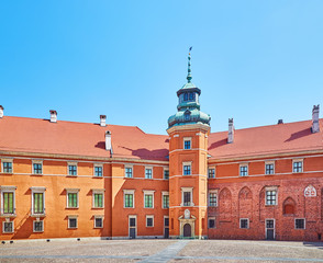The courtyard of the royal castle in Warsaw, Poland