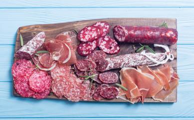 Ham , salami and jamon