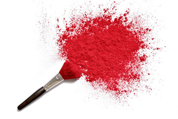 professional make-up brush on crushed makeup color powder Wall mural