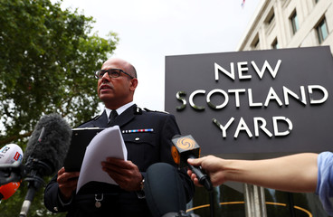Assistant Commissioner of the Metropolitan Police Neil Basu speaks to the media after  a car crashed outside the Houses of Parliament in Westminster, London