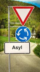 Schild 364 - Asyl