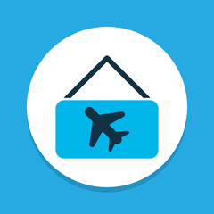 Picture airplane icon colored symbol. Premium quality isolated aircraft banner element in trendy style.