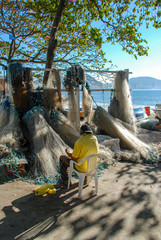 Fishing net, Copacabana beach