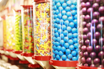 Variety of colorful candies
