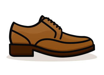 Vector shoe on white background