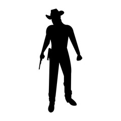 Cowboy outlaw bandit silhouette