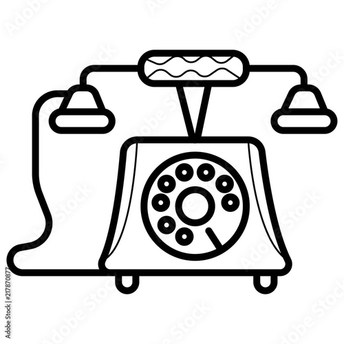 vector icon of a retro phone stock image and royalty free vector Cartoon Retro Phone vector icon of a retro phone