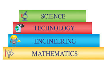 STEM Education - Stack of books