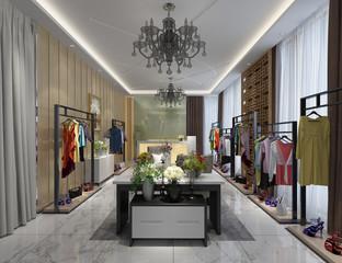 3d render of fashion shop