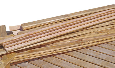 Stack of wooden bars