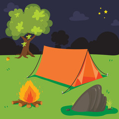camp background vector design