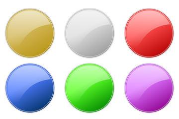 カラフルなサークルアイコン。WEBデザイン、UIデザイン、アプリ・グラフィック素材
