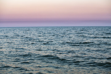 Nice sunset on blue sea nature abstract