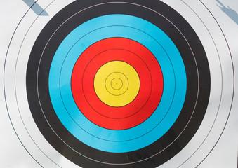 paper target closeup