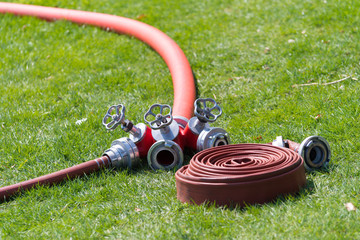 fire hoses with connector
