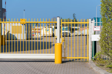 yellow iron gate