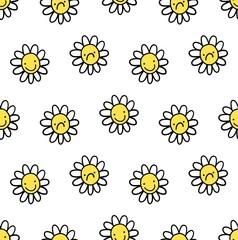 flower smile vector seamless pattern