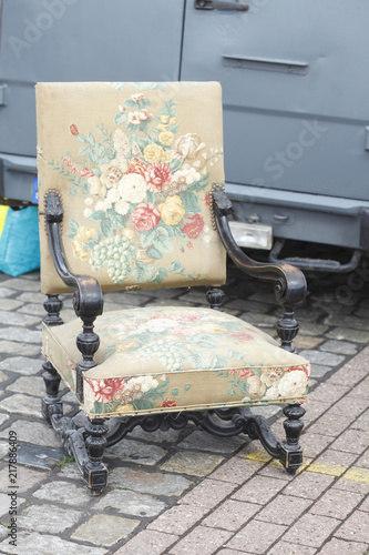 Alter Bunter Sessel Stock Photo And Royalty Free Images On Fotolia