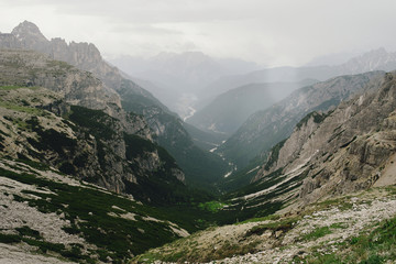 Beautiful landscapes of Italian Dolomites