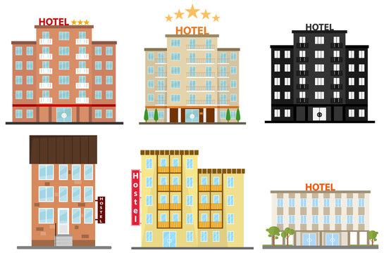Hotel, hotel icon, hostel icon. Flat design, vector illustration, vector.