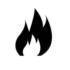 Fire icon isolated on white background. Vector illustration.
