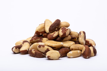 Brazil nuts isolated on a white background