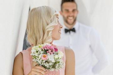 Portrait of Bride and Groom Outdoors