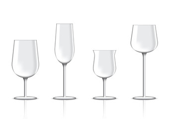 Mock up Realistic Premium Wine Glass for Party Illustration