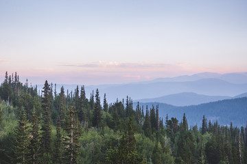 Canvas Prints Khaki Mountain Landscape