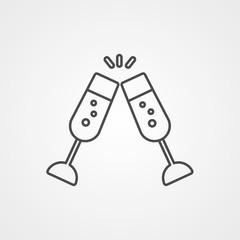 Toast vector icon