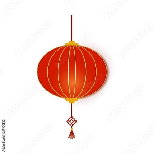 red chinese traditional circle paper lantern chinese new year lantern round shape paper art