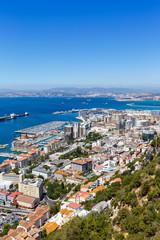 Gibraltar Hafen Stadt Hochformat