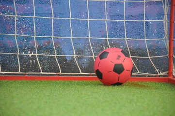 Football playground, soccker and net