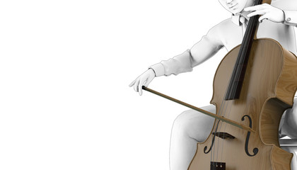 Violoncel Play Drawing Musical instruments 01 / Illustration