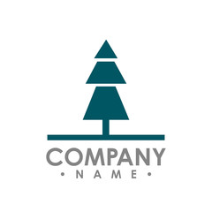 Flat pine Tree outdoor travel green silhouette forest vector logo