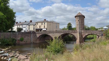 Pont médiéval de Monmouth au Pays de Galles