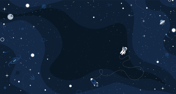 Vector flat space design background with small elements