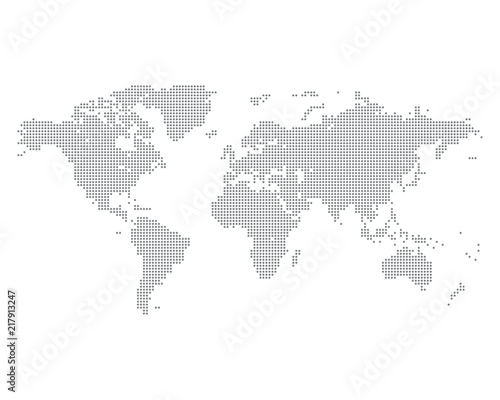 World map made of gray dots vector illustration stock image and world map made of gray dots vector illustration gumiabroncs Image collections