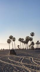 Lifeguard am Venice Beach im Sonnenuntergang Los Angeles Kalifornien
