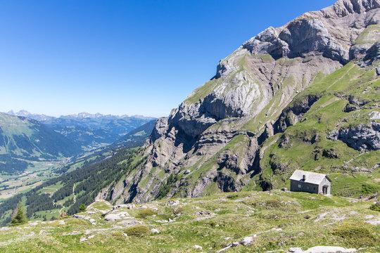 Paysage montagnard sur le col de Sanetsch (Suisse)