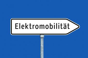 Schild Elektromobilität
