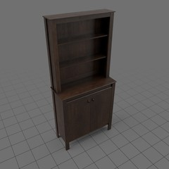 Walnut display cupboard