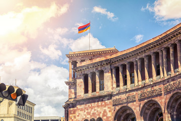 The building of the Armenian government in the Republic Square in Yerevan