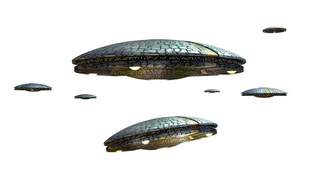 Unidentified Flying Objects with clipping path